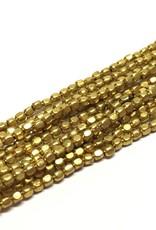 Metallperlen - Square Brass Beads 2 mm, brass