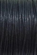 gewachste Baumwollkordel 1mm, Farbe 29 navy