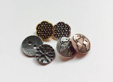 nickelfreie Metall-Knöpfe von TierraCast