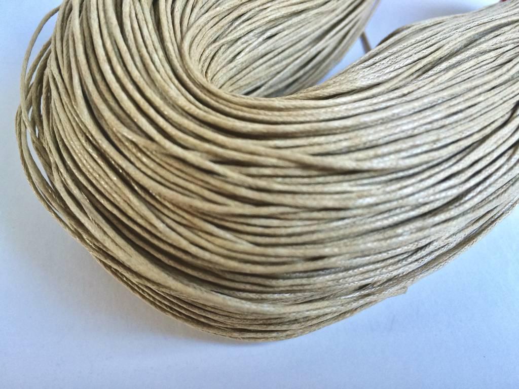 gewachste Baumwollkordel 1mm, Farbe 07 sand