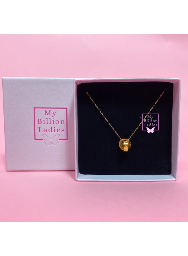Love ring necklace gold