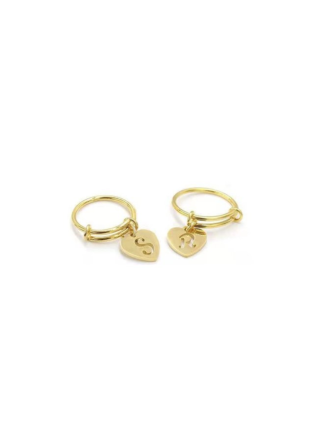 Initial Love Ring Gold