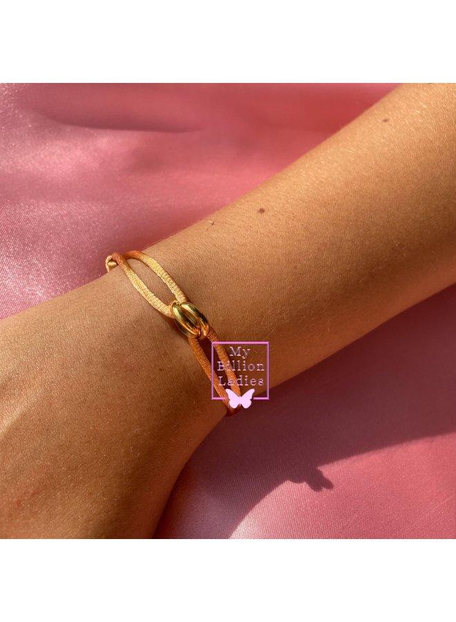 Two Ring Gold Bracelet
