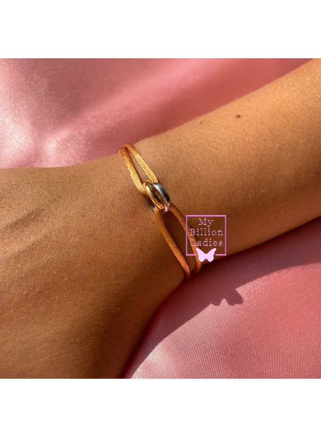 Two Ring Gold Silver Bracelet