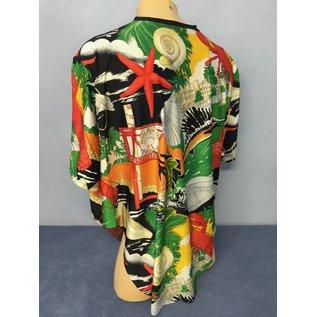 Flatter-Homewear Shirt  bunt oder einfarbig