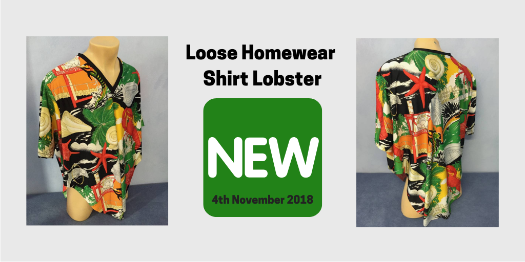 Loose Homewear Shirt Lobster