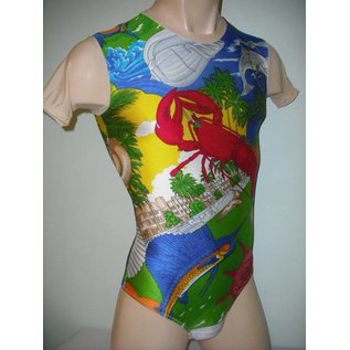 Male-Bodysuit-Hipster - Multi-Colored