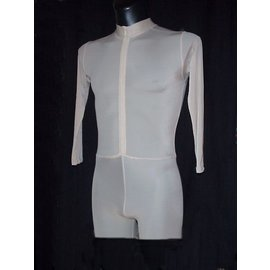 One-Piece with high neck and front zipper