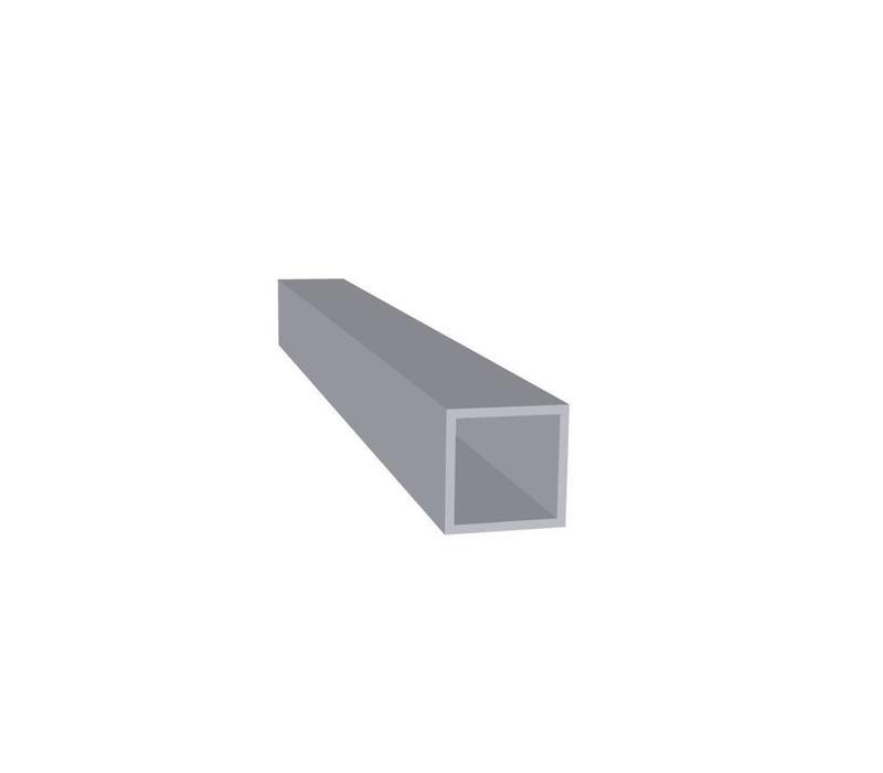 Aluminium Koker 20 x 20 x 1,5 mm - 30 meter in 3000 mm