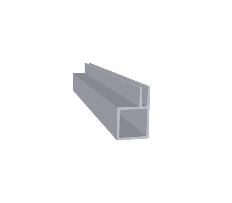 Aluminium Koker 20 x 20 x 1,5 mm - 1 Flens 3mm 30 meter in 3000 mm