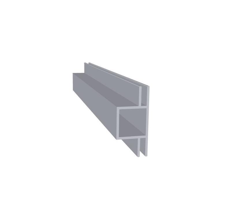 Aluminium Koker 20 x 20 x 1,5 mm - 2 Flens (vlak) 3mm - 30 meter in 3000 mm