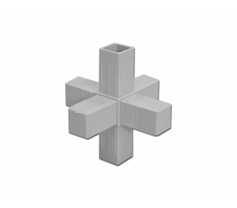 6-Weg  (Kruis) - 20 X 20 X 1,5mm