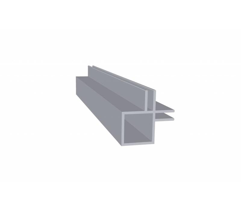 Aluminium Koker 20 x 20 x 1,5 mm - 2 Flens (binnenhoek) 3mm - 30 meter in 3000 mm