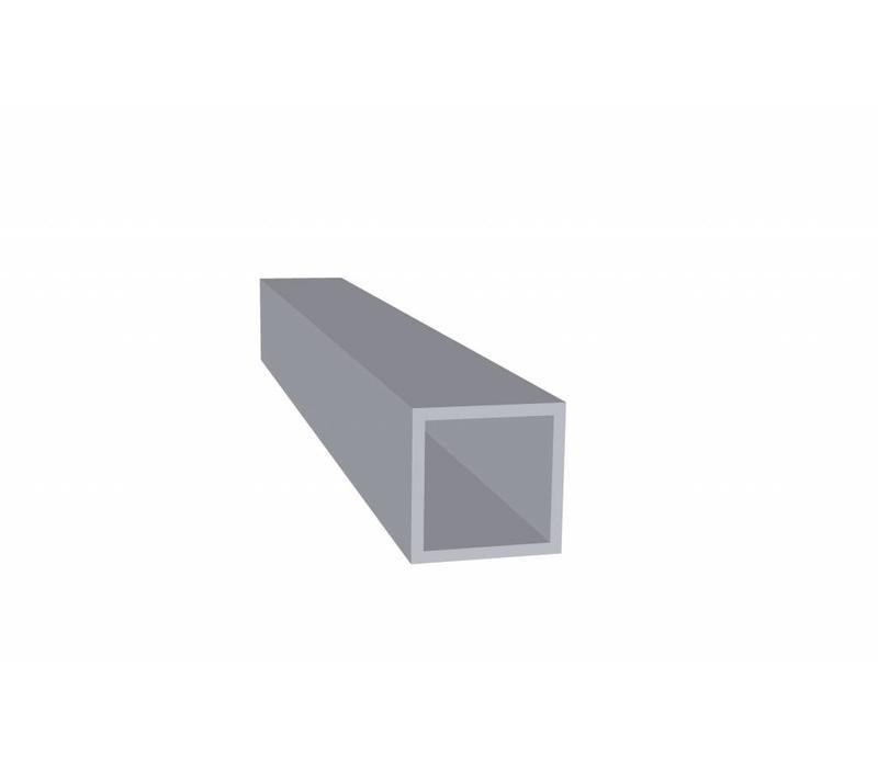 Aluminium Koker 25 x 25 x 2,0 mm - 30 meter in 3000 mm