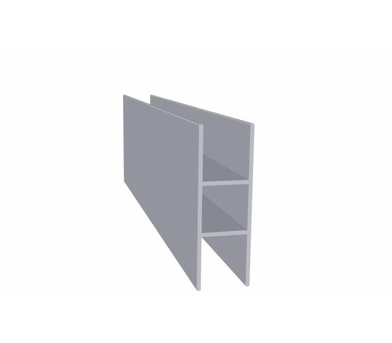 Aluminium Koker 20 x 20 x 1,5 mm - 2 Flens 16mm - 30 meter in 6000 mm