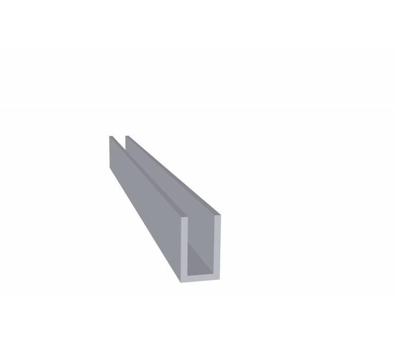 Aluminium Koker 20 x 12 x 20 x 2,0 mm - U Profiel - 30  meter in 3000 mm