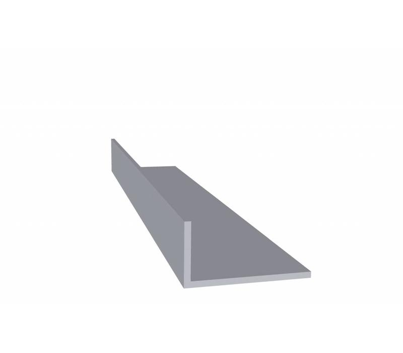 Aluminium profiel 20 x 40 x 2,0 mm - Hoeklijn - 30 meter in 3000 mm
