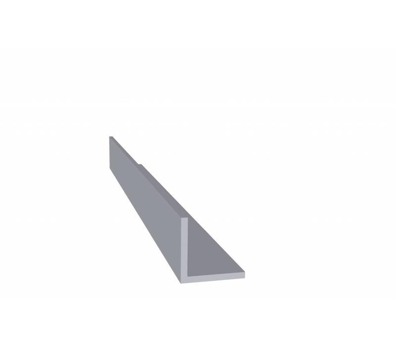 Aluminium profiel 20 x 20 x 2,0 mm - Hoeklijn - 60  meter in 6000 mm