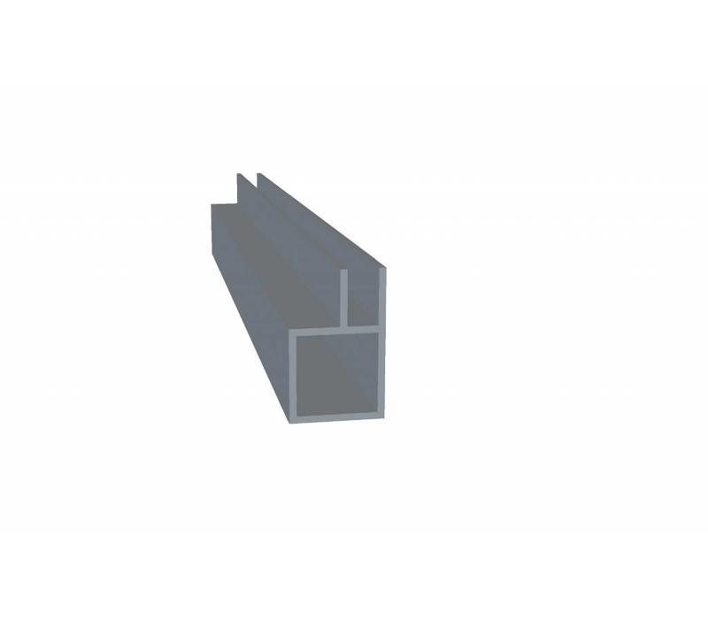 Aluminium Koker 20 x 20 x 1,5 mm - 1 Flens 6,5mm - 30 meter in 3000 mm