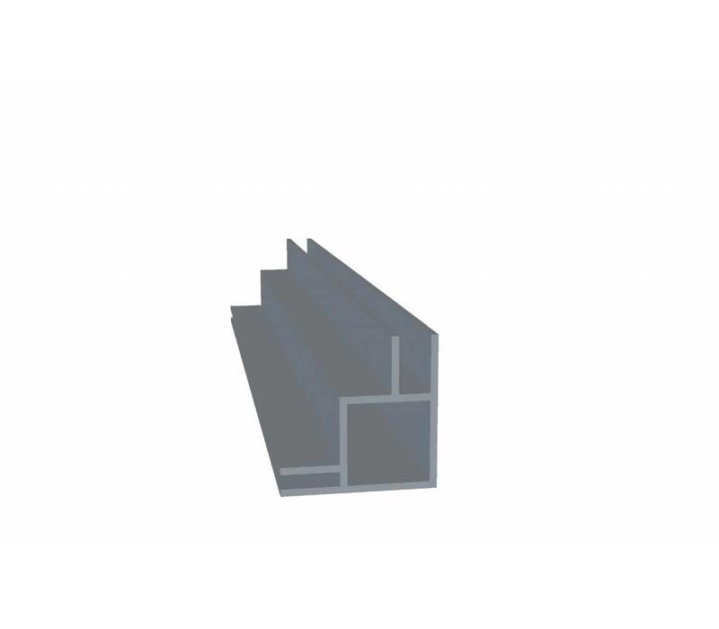Aluminium Koker 20 x 20 x 1,5 mm - 2 Flens 6,5mm + 3mm (binnen/buitenkant) - 30 meter in 3000 mm