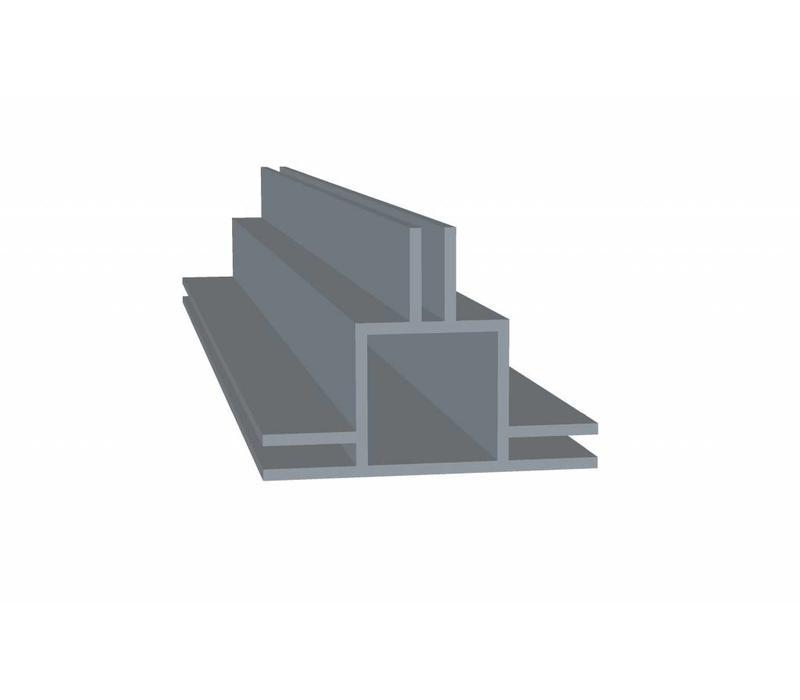 Aluminium Koker 20 x 20 x 1,5 mm - 2 Flens 6,5mm + 3mm (binnen/buitenkant) - 30 meter in 3000 mm - Copy