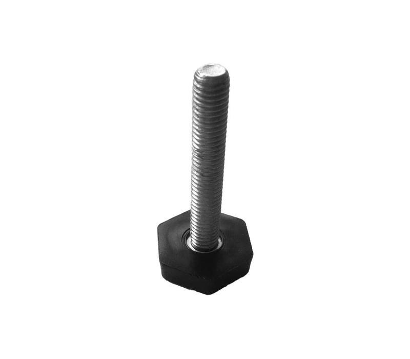 25 x 25 x 2,0mm Inslagdop + Stelpoot - Zwart