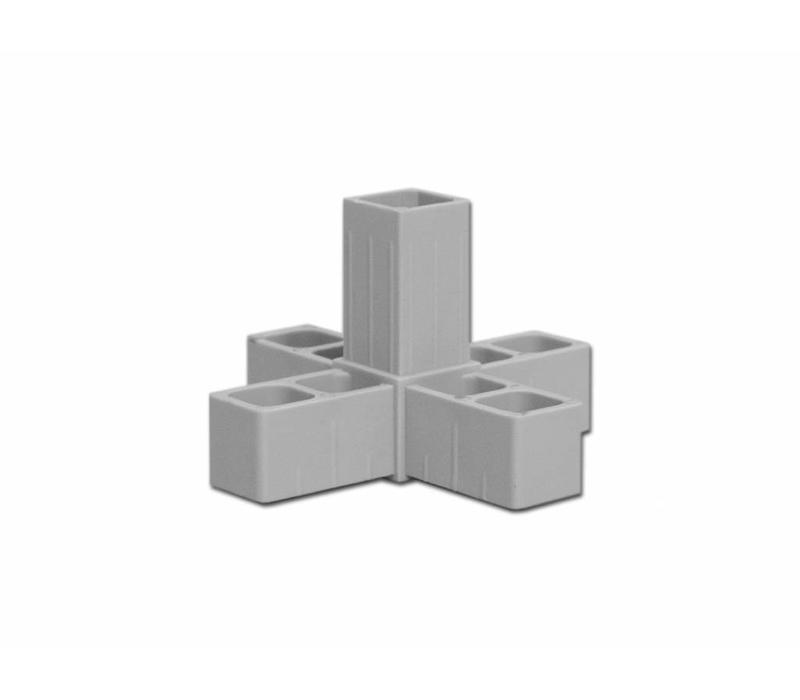 5-Weg  (Hoek) 25 X 25 X 2,0mm