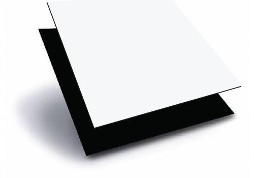 Obie ACP 1000 x 2000 x 3,0mm - Wit / Zwart