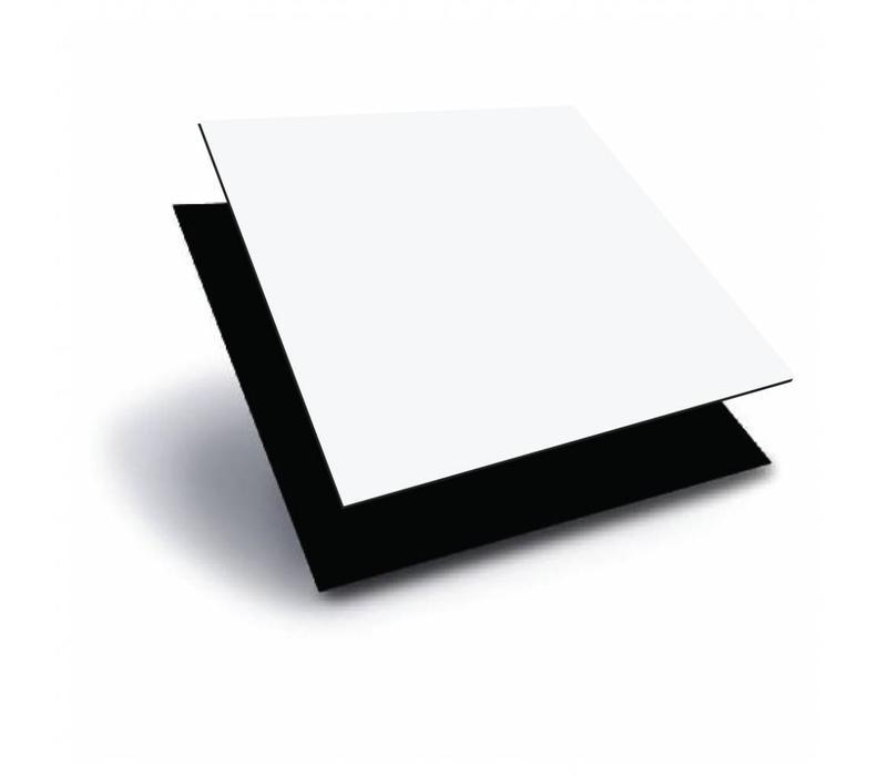 ACP (Aluminium composiet panels) 1000 x 2000 x 3,0mm - Wit (RAL 9010) / Zwart (RAL 9005)