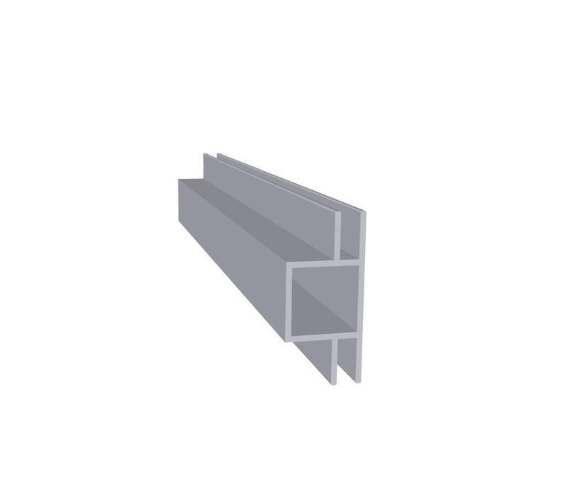 Aluminium Koker 20 x 20 x 1,5 mm - 2 Flens (vlak) 4mm - 60 meter in 6000 mm