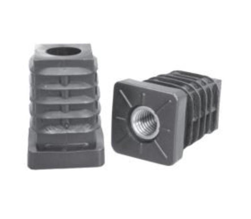 20 x 20 x 1,5 mm Inslagdop - Zwart (M8 15 mm)