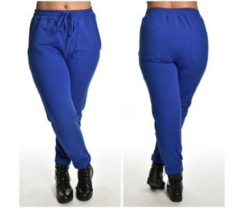 Joggingbroek Time to Chill Kobalt blauw