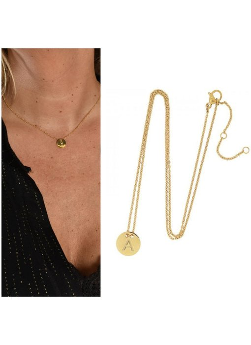 Gold plated initial chain