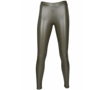 Leatherlook Legging Leger groen