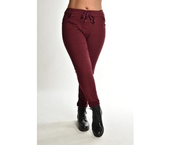 Broek make my day Basic Bordeaux