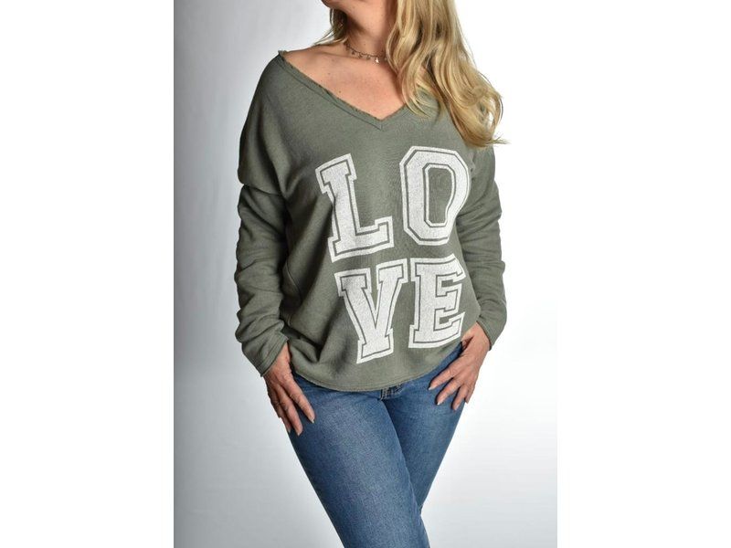 Sweater Love Legergroen