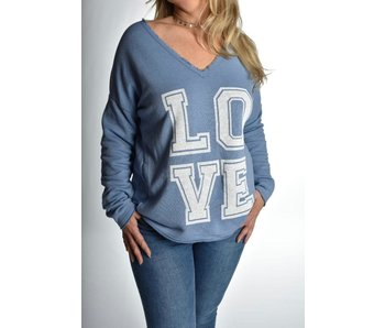 Sweater Love Blauw