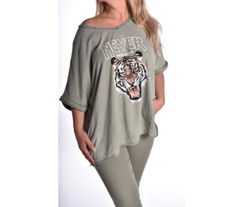 Top Cotton Tiger - Leger groen