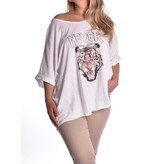 Top Cotton Tiger -Wit