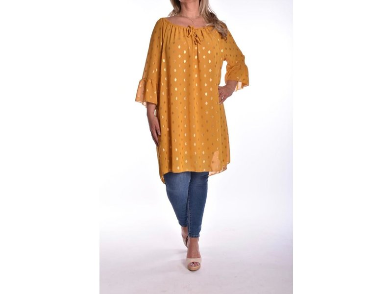 Tuniek touch of gold  - Geel
