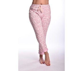 Broek make my day Cheetah - Roze