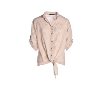 Blouse Broderie Beige