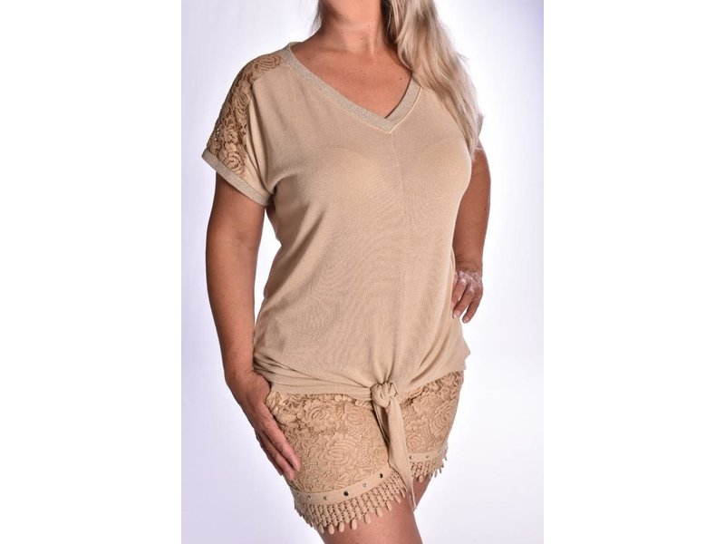 Top Lacey - Camel