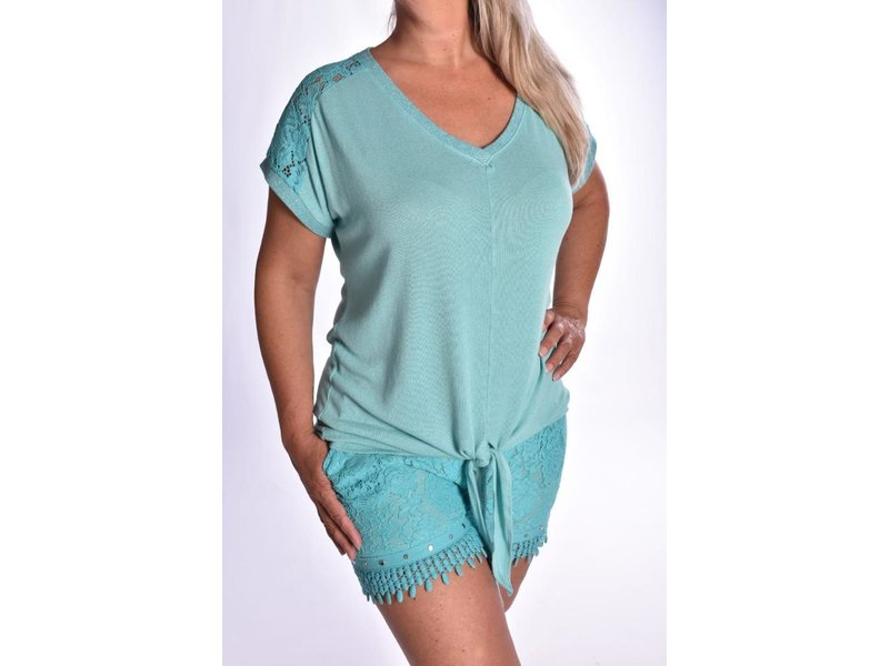 Top Lacey - Turquoise