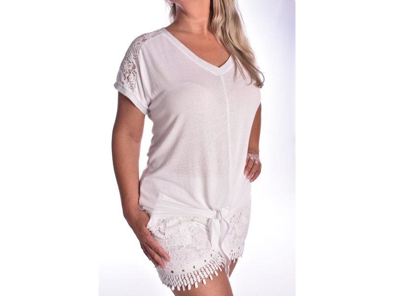 Top Lacey - Wit