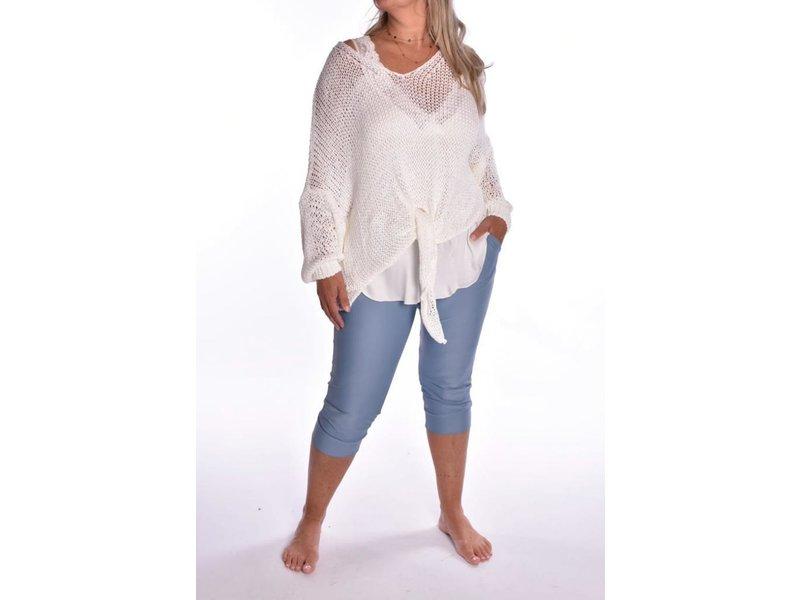 Capri broek Travel - Jeans Blauw