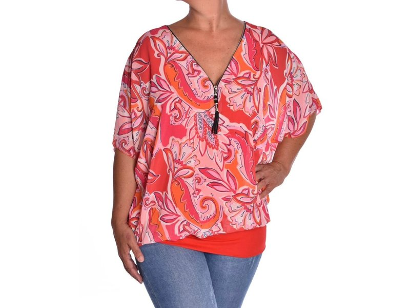 Voile top Mila - Rood