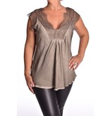 Top Wendy Deluxe  - Donker taupe