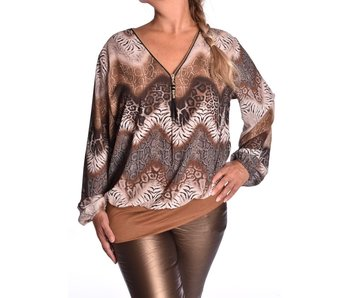 Voile top Rits L'Amour - Camel
