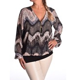 Voile top Rits L'Amour - Zwart
